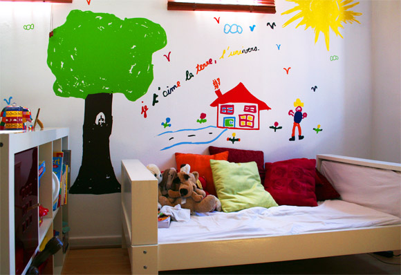 Custom kids wall decals by E-Glue design studio