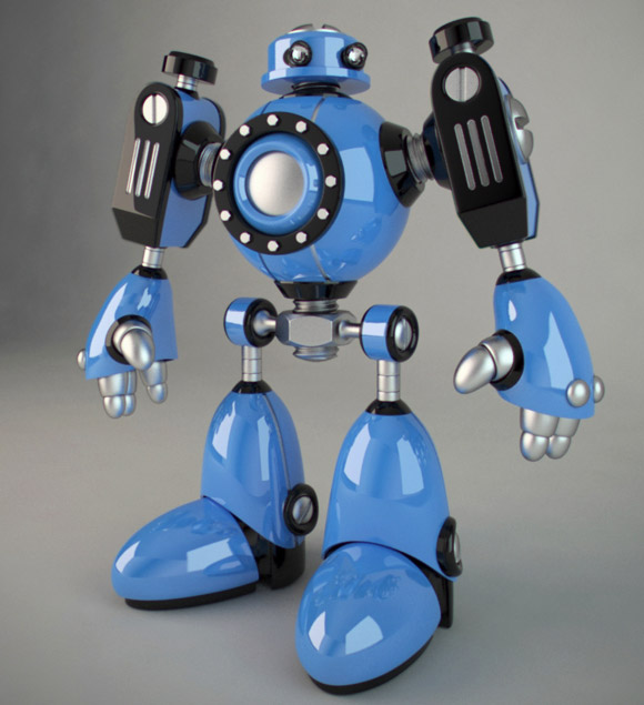 3D Robot Toy by E-Glue design studio