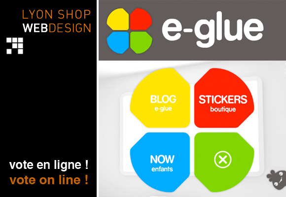 E-GLUE // Lyon shop webdesign