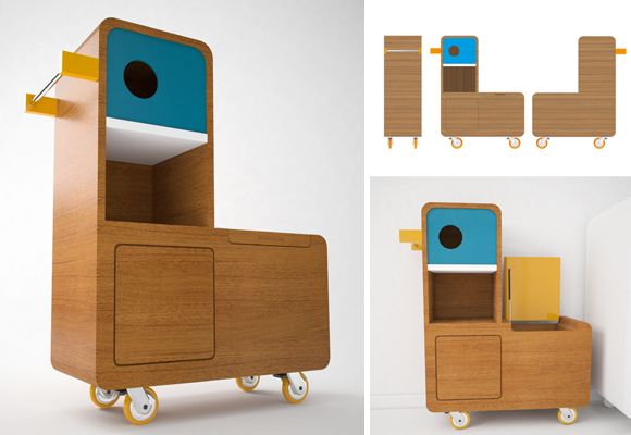 © E-GLUE // duck kids furniture - 3D rendering : Vincent Salasombath