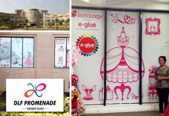 e-glue in India at DLF Promenade Mall