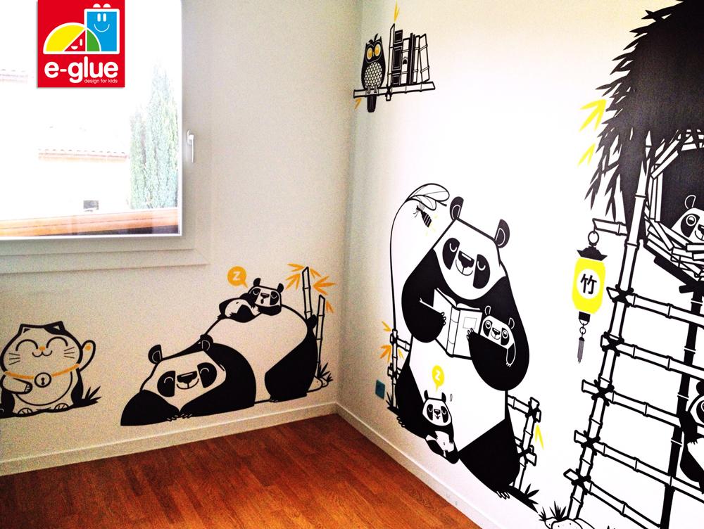 Photos clients stickers panda pour chambre b b e for Stickers panda chambre bebe