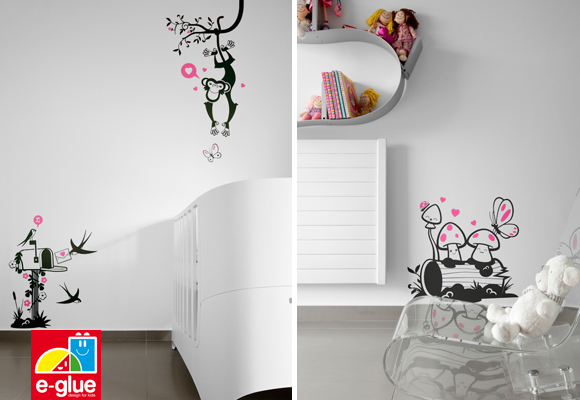 e-glue children wall decals & baby wall stickers