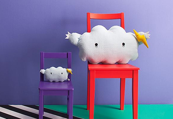 peluches, doudou et coussins nuages Noodoll pour bébés et chambres enfants