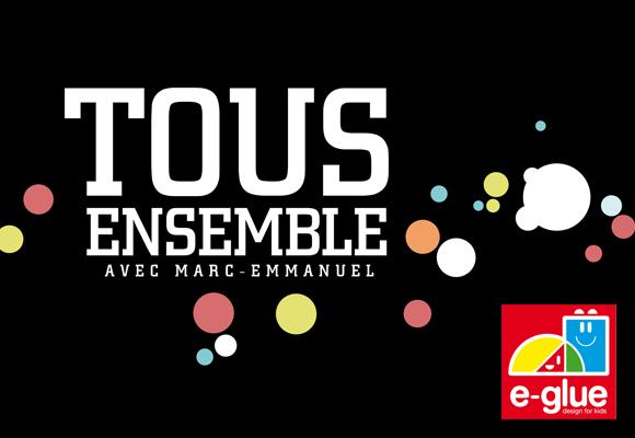 STICKERS ENFANTS E-GLUE dans l'émission TOUS ENSEMBLE de TF1