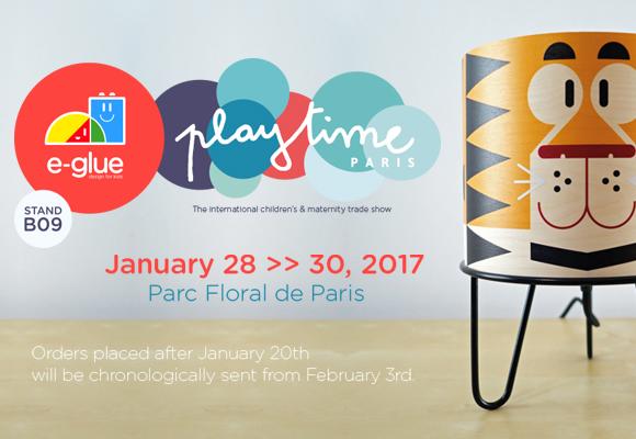 E-Glue présent à Playtime Paris fin Janvier 2017