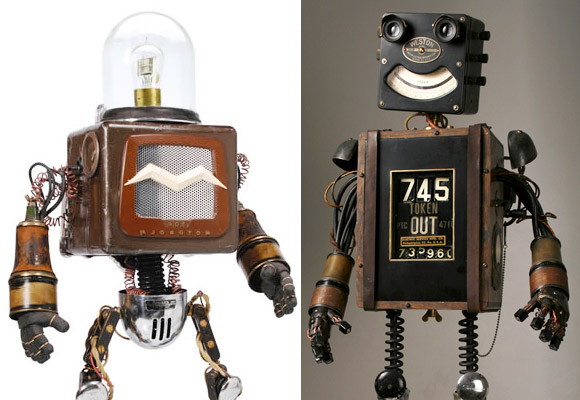MIKE RIVAMONTE // robots sculptures