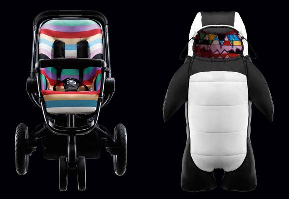 QUINNY by HENRIK VIBSKOV // penguin body-suit & wheel stroller