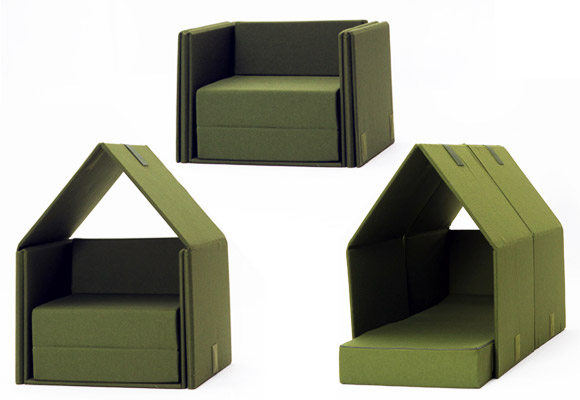 PHILIPPE MALLOUIN for CAMPEGGI // tent-sofa for children