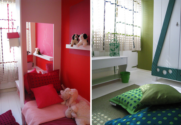 ontwerpduo studio design a room for 2 children a boy and a girl - Comment Separer 2 Chambre