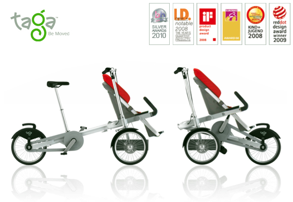 TAGA BIKES // stroller to bike in 20 seconds