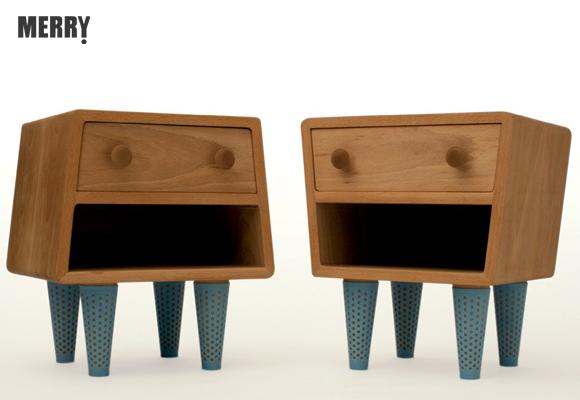 merry design studio tables de chevet amusantes pour chambre de jumeaux now for kids by e glue. Black Bedroom Furniture Sets. Home Design Ideas