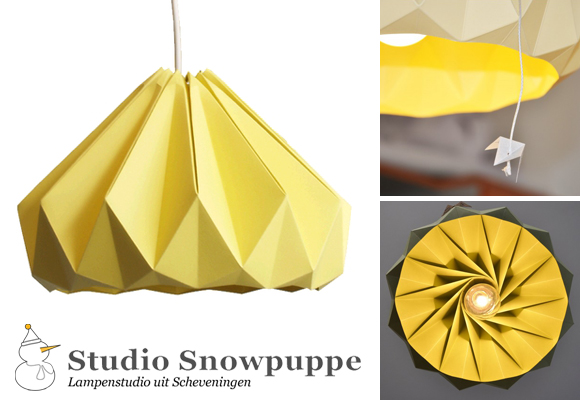 STUDIO SNOWPUPPE // autumn yellow chesnut lamp