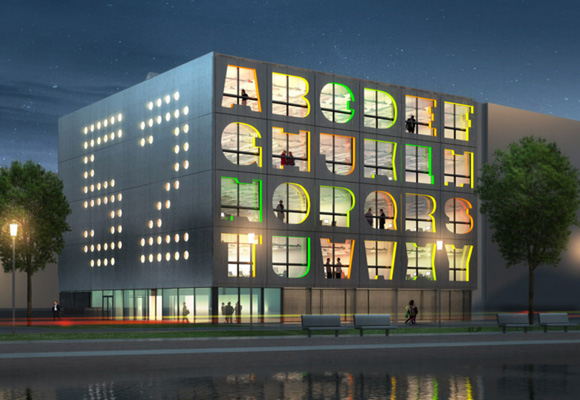 alphabet building by MVRDV