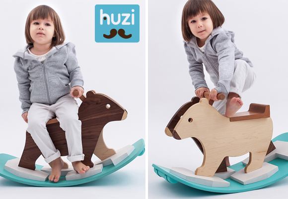 pizzly bear children rocking chair by huzi