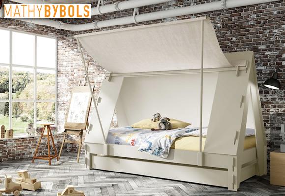 mathy by bols super lit tente pour chambre enfants now for kids by e glue. Black Bedroom Furniture Sets. Home Design Ideas