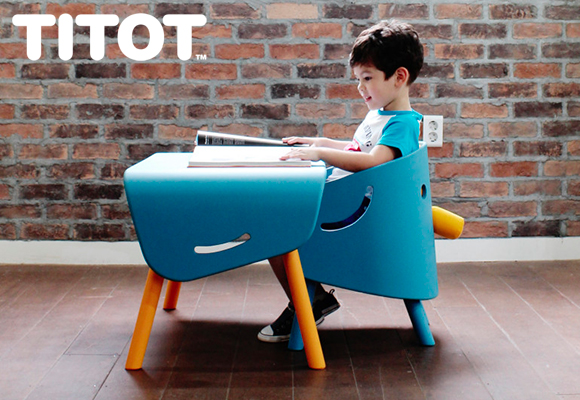 elephant chair and table children's furniture by titot