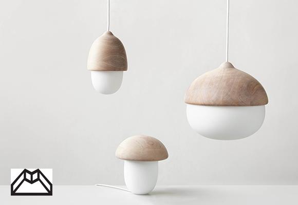 lampes de formes naturelles pour chambres d'enfants par Maija Puoskari