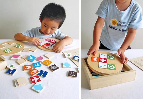 Colorito, jeu de compositions en bois pour enfants par Atelier Mapa