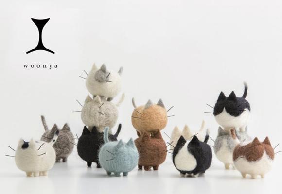 chats décoratifs en feutre pour chambres enfants par Woonya