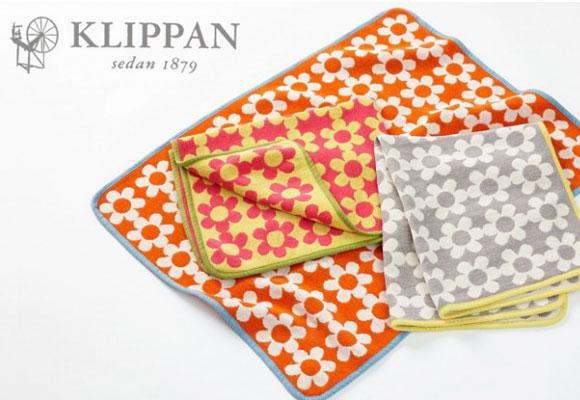Couvertures bébés en coton organique, Flower Power, par Klippan