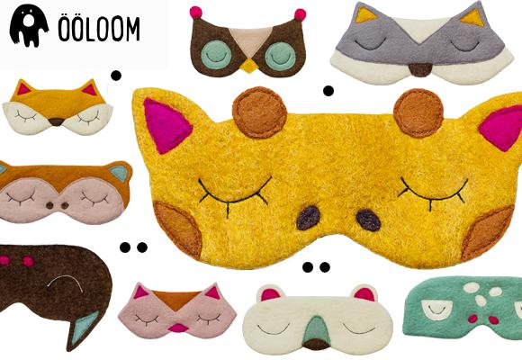Masques d'animaux enfants pour dormir par Ooloom