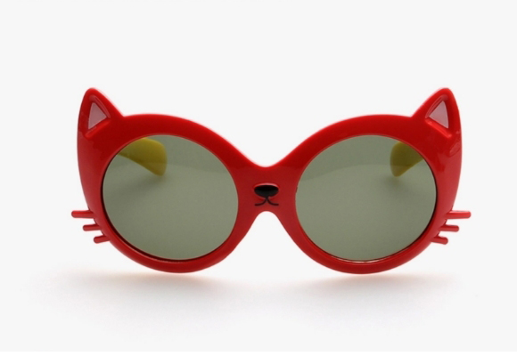 Girls' cat eye sunglasses for kids and toddlers
