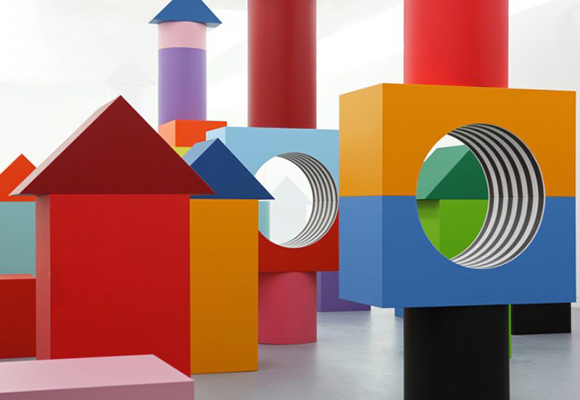 children's playground for the Madre Museum by Daniel Buren and Patrick Bouchain