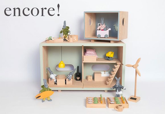 wooden ecological toys, houses, furniture by French brand Encore !