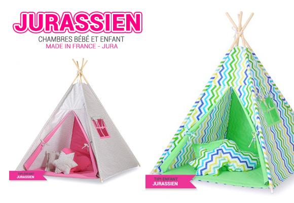 Collection de Tipi Enfants par Le Jurassien