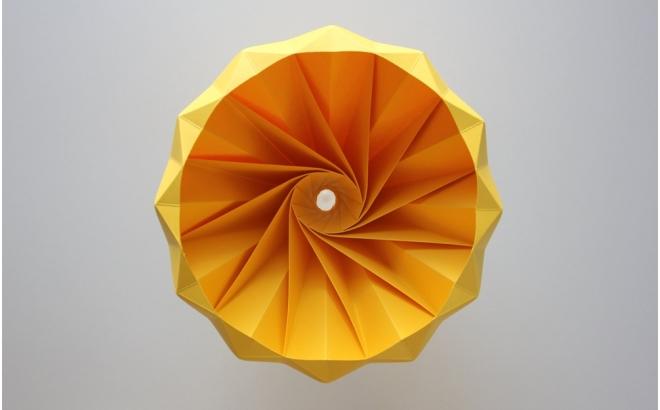 lampe origami enfants chesnut snowpuppe (jaune doré)