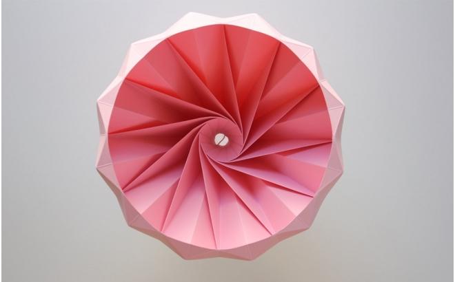 lampe origami enfants chesnut snowpuppe (rose)