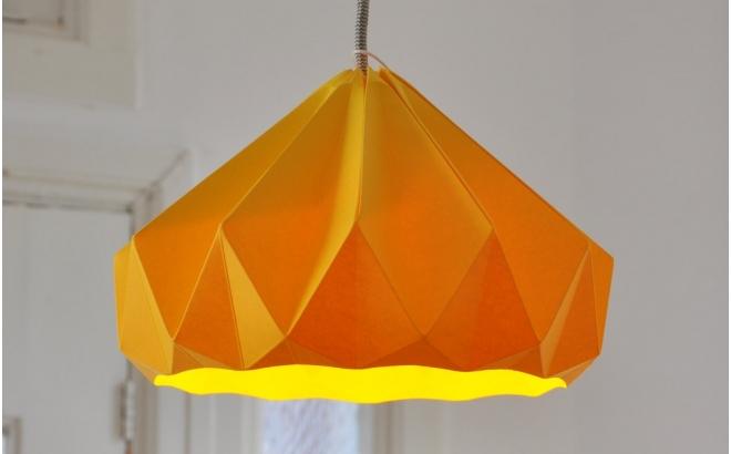 lámpara infantil origami chesnut snowpuppe (rosa)