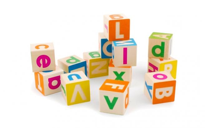 cubes alphabet en bois