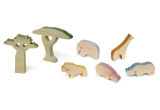 wooden kids toys cheekeyes savannah set