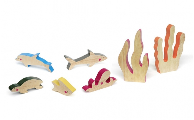 wooden kids toys cheekeyes underwater set