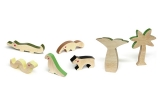 wooden kids toys cheekeyes rainforest set
