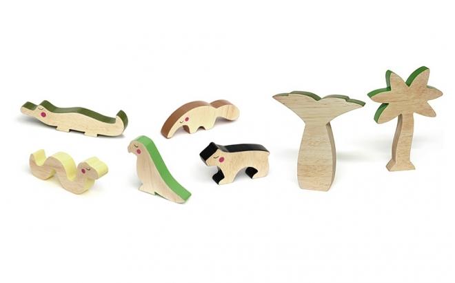 juguetes infantiles de madera cheekeyes kit jungla