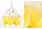 lampe origami enfants moth gradient snowpuppe (jaune doré)