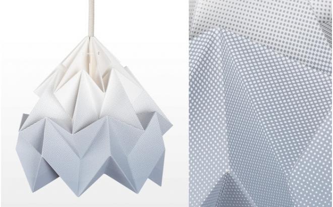 lampe origami enfants moth gradient snowpuppe (gris)