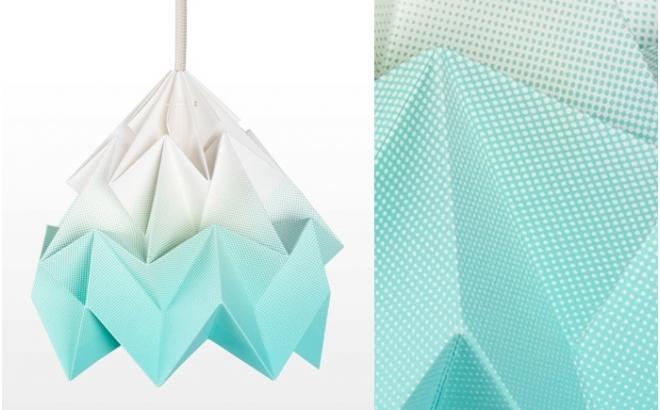 lámpara infantil origami moth gradient snowpuppe (menta)