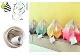 lámpara infantil origami moth gradient snowpuppe (amarillo dorado)
