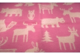 baby children kids wool blanket klippan forest pink