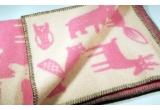 mantas infantiles lanas bebés niños niñas klippan forest rosa