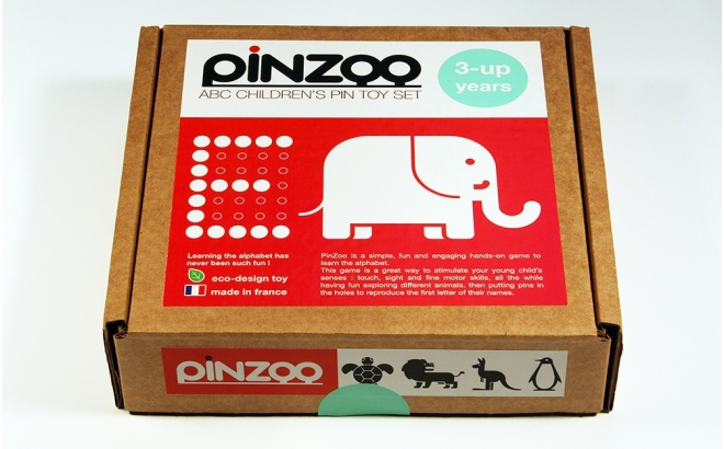 pinzoo educational alphabet wooden childrens toy game eco-friendly