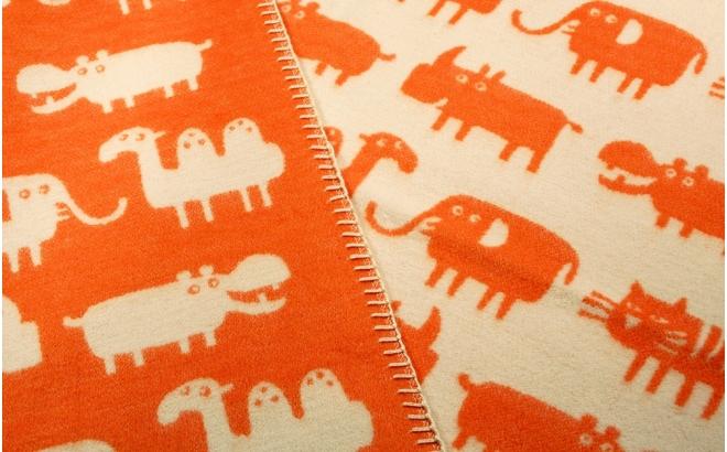 manta infantil algodón bebé niño niña klippan africa naranja