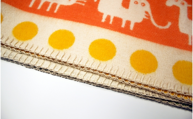 baby children kids cotton blanket klippan africa orange