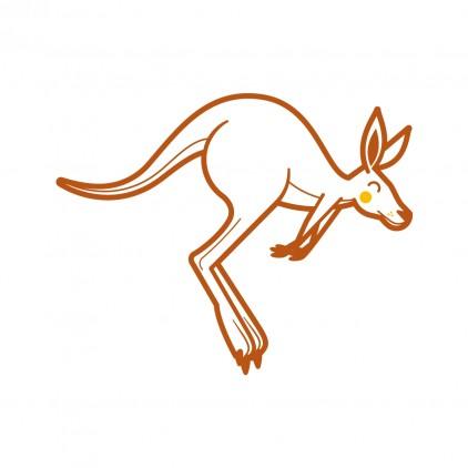 young kangaroo baby kids wall decal Australia theme