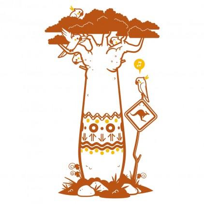sticker enfant bébé arbre baobab theme Australie