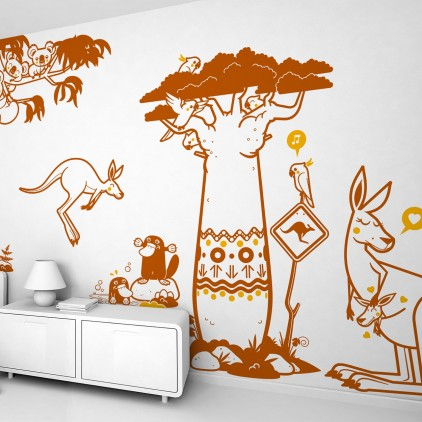 australia baby kids wall decals pack